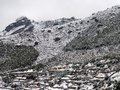 Namche Bazaar in Snow Royalty Free Stock Photo