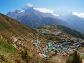 Namche Bazar Royalty Free Stock Photo