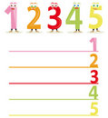The name of the numbers, part 1 Royalty Free Stock Images