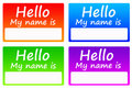 Name tags Royalty Free Stock Photography