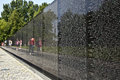Names of vietnam war casualties on wash dc july veterans memorial july in washington dc usa in chronological Stock Photography