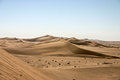 Namibia desert picture of big desret dunes with clear sky Royalty Free Stock Photography