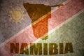 Namibia vintage map Royalty Free Stock Photo