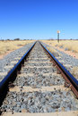 Namibian desert railway line perspective Stock Photography
