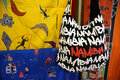 Namibian souvenir a bag with namibia on it at a shop in windhoek the capital city of namibia at independence avenue htere Stock Photography
