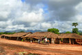 Nampula mozambique december the settlement national african house with a thatched roof in strangers Stock Photos