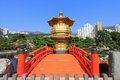 Nan lian garden in diamond hill hong kong golden pavilion of absolute perfection at chinese classical Stock Photography