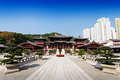 Nan lian garden pagoda at chi lin nunnery hong kong Royalty Free Stock Photography