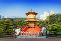 Nan lian garden pagoda at chi lin nunnery hong kong Royalty Free Stock Photo