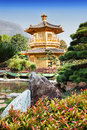 Nan lian garden pagoda at chi lin nunnery hong kong Stock Photo