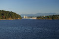 Nanaimo harbour bc view of departure bay and harbor on vancouver island Stock Photos