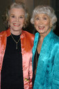 Nanette fabray and betty garrett at the beverly hills theatre guilds th annual dinner honoring carol channing with their spotlight Royalty Free Stock Photos