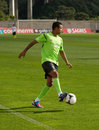 Nani portuguese player practice to Euro Royalty Free Stock Image