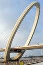 Nanjing eye bridge walk Royalty Free Stock Photo