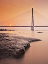 Nanjing second Yangtze river bridge Stock Images