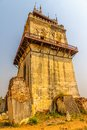 Nanmyin or watchtower of ava in mandalay myanmar leaning tower Royalty Free Stock Photography