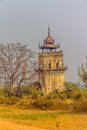 Nanmyin or watchtower of ava in mandalay myanmar leaning tower Stock Image