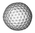 Nanocluster fullerene C540 molecular model Royalty Free Stock Photos
