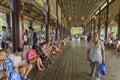 Nanqiao bridge leisure life scenery in summer Royalty Free Stock Photo