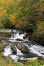 Nantahala river in north carolina in the fall Royalty Free Stock Photography