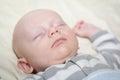 Nap time pour le bébé Photos libres de droits
