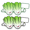 Napa cabbage characters to promote vegetable selling vegetable character design series Royalty Free Stock Photos