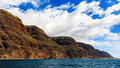 Napali coast hills section of the majestic in kauai hawaii islands Royalty Free Stock Images