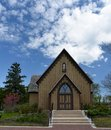 Naperville historic church this is a spring picture of st john s episcopal located in illinois the example of gothic revival Stock Photos