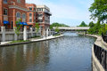 Naperville Riverwalk West Branch of the DuPage River Royalty Free Stock Photo