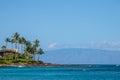 Napili Bay Resort on coast Royalty Free Stock Photo
