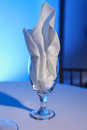 Napkin in a glass Stock Image