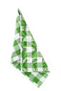 Napkin green isolated on white Royalty Free Stock Images