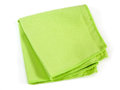 Napkin from the microfibre green kitchen isolated on white background Royalty Free Stock Photography