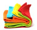 Napkins colorful on white background Stock Images