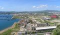 Naples, Bagnoli. Ex Italsider industrial area Stock Photography