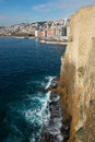 Naples from castel dell ovo, Italy Royalty Free Stock Photography