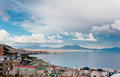 Naples daylight best view of the gulf of Royalty Free Stock Images