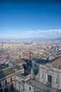 Naples flyby view panoramic of town and gulf from sant elmo castle Royalty Free Stock Photo