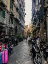 stock image of  Naples, Italy - September 4 - 2018: View of street lyfe and poor houses in Naples