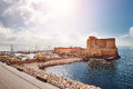 Naples, Italy - view of Castel dell'Ovo (Egg Castle) Royalty Free Stock Photo
