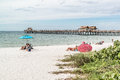 Naples pier and beach, Florida, USA Royalty Free Stock Photo