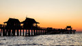 Naples Pier at Sunset Royalty Free Stock Photo