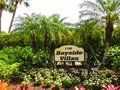 Naples, USA - May 8, 2018: The welcome sign before house at Naples, Florida USA Royalty Free Stock Photo