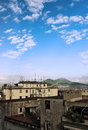 Naples and vesuvius a view of the city of with vulcano in the background Royalty Free Stock Photo