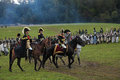 Napoleon bonaparte borodino moscow region september reenactment of the borodino battle between russian and french armies in at its Stock Photos