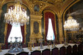 Napoleon iii apartments dining room photo of luxurious with chandeliers at the in the louvre museum in paris france Stock Photography