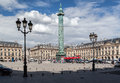 Napoleon monument place vendome paris the bronze in france Stock Photo