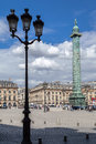 Napoleon monument place vendome paris the bronze in france Royalty Free Stock Photo