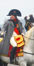 Napoleon riding a horse at historical reenactment Royalty Free Stock Images