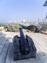 Napoleon s cannon one of cannons in old jaffa israel Royalty Free Stock Images